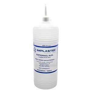 Alcool(g)isopropilico 1000ml 99,8% Puro Implastec