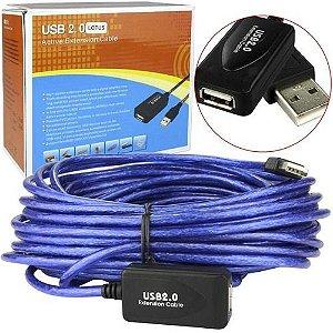CABO EXTENSOR USB 2.0 MACHO FEMEA 15 METROS COM CHIP