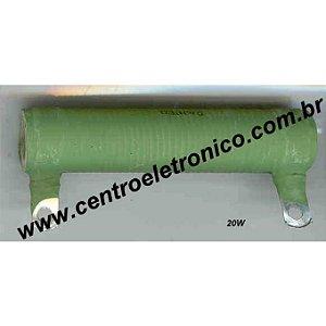 RESISTOR FIO 2,4R 300W TUBULAR/FURADA