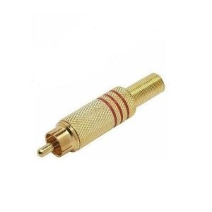 Plugue Rca Ouro C/mola P/cabo 5mm Vm(100