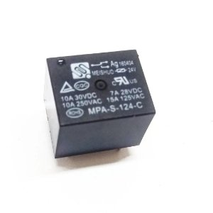 RELE 24VDC 10A 1CT REV 5T TAM18X15X5MM