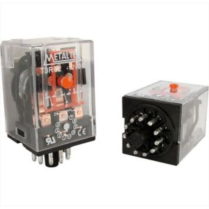 RELE 12VDC 10A 3CT CILINDRICO METALTEX