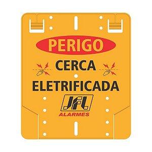 Placa Perigo Cerca Eletrica Pvc Jfl