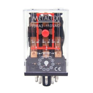 RELE 110VAC 10A 3CT REV CILINDRO MTX