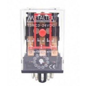 RELE 24VDC 10A 3CT CILINDRO 11P MTX