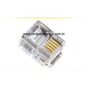 CONECTOR RJ11 6P4C CAT3 PLASTICO