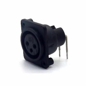 Conector Canon Painel 3p Femea Pci 90gr