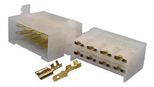 CONECTOR 8V PLASTICO C/TERM(CJ)QUADRADO
