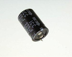 CAPACITOR ELETROL 220MFX200V 18X35M 105G