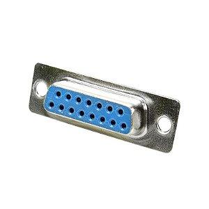 CONECTOR DB15 FEMEA 2FILA SOLDA