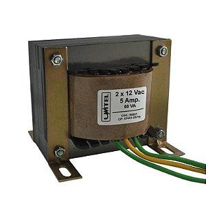 Transformador 12+12vac 5a Bivolt(p1)