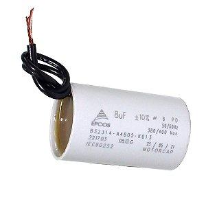 Capacitor Partida 8mfx250vac 2fios Acv