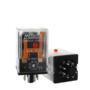 RELE 12VDC 10A 2CT 8T CILINDRICO MTX+