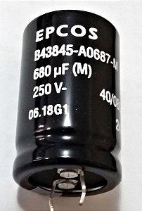 CAPACITOR ELETROL 680MFX250V VER EPC