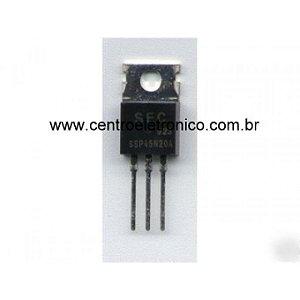 TRANSISTOR MTP45N20A FET 45A/200V ISOL