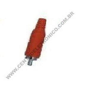PLUGUE RCA PVC OURO 6MM VERMELHO 133