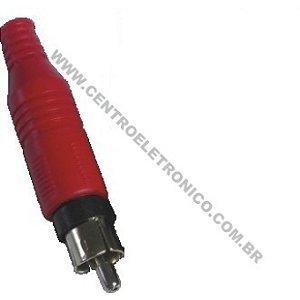 PLUGUE RCA PVC OURO 4MM VERMELHO 132