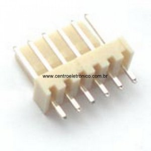 CONECTOR MACHO 6VIAS P/PCI 180G 2,54MM