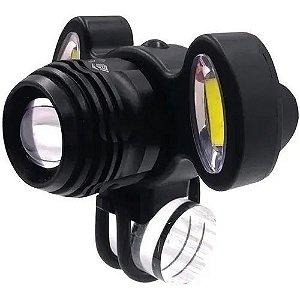 Lanterna 3led Cabeca Recarr C/zoom+lum Fnb
