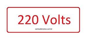 ADESIVO ADVERTENCIA 220V  VEMELHO KIT COM 10 PEÇAS