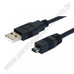 CABO USB A MACHO MINI UBS 4P 1,8 METRO INTEGRIS C161J