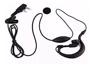 Fone de Ouvido para Rádio Comunicador com Plugue P1 e P2 Stereo