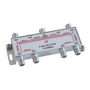 DIVISOR 6X75R ALTA 5-2400MHZ CATV/SAT
