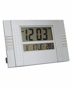 RELOGIO MESA LCD LUMINOSO QUAD 12X13CM
