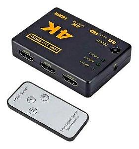 COMUTADOR HDMI 3 ENTRADA 1SAIDA COM CONTROLE
