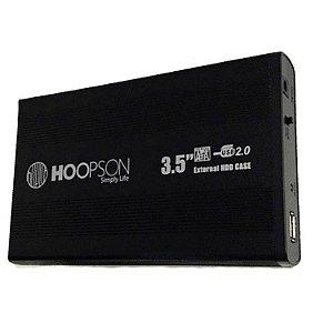 CASE HD EXTERNO USB 2.0 3,5P SATA PRETO HOOPSON CHD003