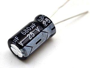 CAPACITOR ELETROLITICO 680MFX25V RD 105GR