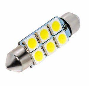 LAMPADA 12V TETO 6LED 3528 BR 36MM(UNI)
