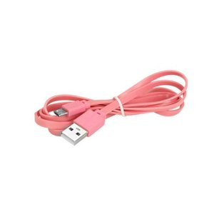 CABO USB PARA V8 1,2 METRO FLAT ROSA 10MM