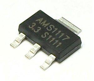 Circuito Integrado AMS1117 Smd 3,3 volts - 3 Terminais