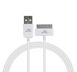 CABO USB PARA IPHONE 4 1,2 METRO BRANCO SUMAY SMC2312