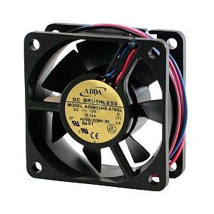 VENTILADOR 12V 70X70X15MM 3FIOS ROL/NYLON