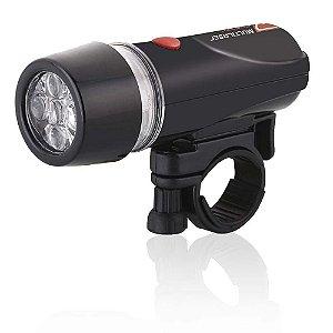 Lanterna Bike 5leds 3funcao C/sup+pilhas Multilaser