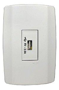 TOMADA USB-F 5V 2A EMBUTIR ILUMI BR