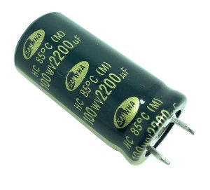 CAPACITOR ELETROLITICO 2200MFX100V 25X40M IMP