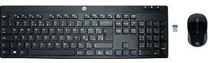 TECLADO+MOUSE S/FIO HP C200 PT