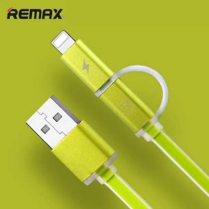 CABO USB IPHONE LIGHTNING E V8 MICRO USB 1 METRO VERDE REMAX L36T