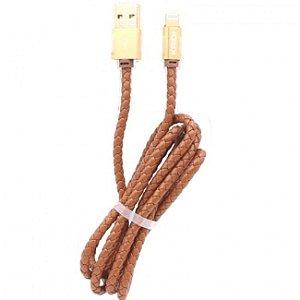 CABO(G)USB A-M IPHONE5 1,2M COURO KAIDI