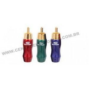 PLUGUE RCA MACHO KIT 3PCS 3CORES SUMAY