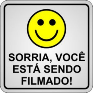 Placa Sorria Vc Filmado Br Alum 18x12cm