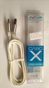 CABO(G)USB A-M TIPO C 1MT C/LED BRANCO RGB