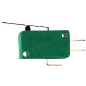 CHAVE MICRO SWITCH 10A COM HASTE 25MM 3T METALTEX NSO-020