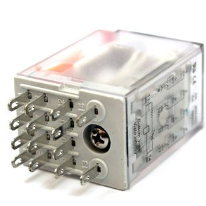 RELE 220VAC 5A 4CT REV P/SOQ C/LED(ENC)