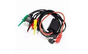 CABO USB FEMEA 5V COM GARRAS+BANANAS+PINCAS