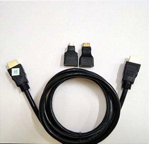 CABO VIDEO HDMI X MINI HDMI+MICRO HDMI3X 1,5MT