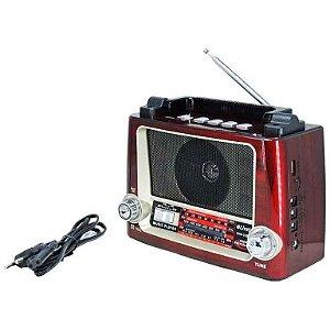 RADIO+LANTERNA AM-FM/BLUETOOH/SD/RECARRE
